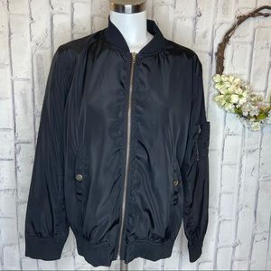 Perch by blue pepper black bomber jacket